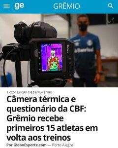 Grêmio usa termografia para proteção - Covid-19